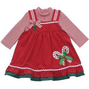 Rare Editions Baby Girl Christmas Holiday Dress